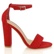 e7d67c04f item 1 Womens Ankle Strap Sandals Block High Heel Ladies Peeptoe Bridal  Party Prom Shoe -Womens Ankle Strap Sandals Block High Heel Ladies Peeptoe  Bridal ...