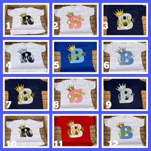 Baby Boy Girl 1st 2nd 3rd 4th 5th 6th birthday T-shirt Any Name Personalised
