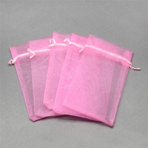 "100pcs Drawstring Organza Bags Wedding Favor Mini Gift Pouches Packing 5.9/""x3.9/"""