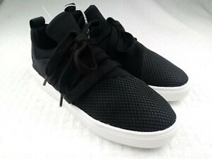 b77229fa029 Steve Madden Women s Lancer Lace Up Sneakers Black White SZ 6 Casual ...
