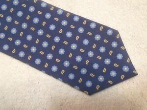 Peter-Millar-Silk-Blue-Floating-Flower-amp-Paisley-Tie-NWT-115-Made-in-Italy