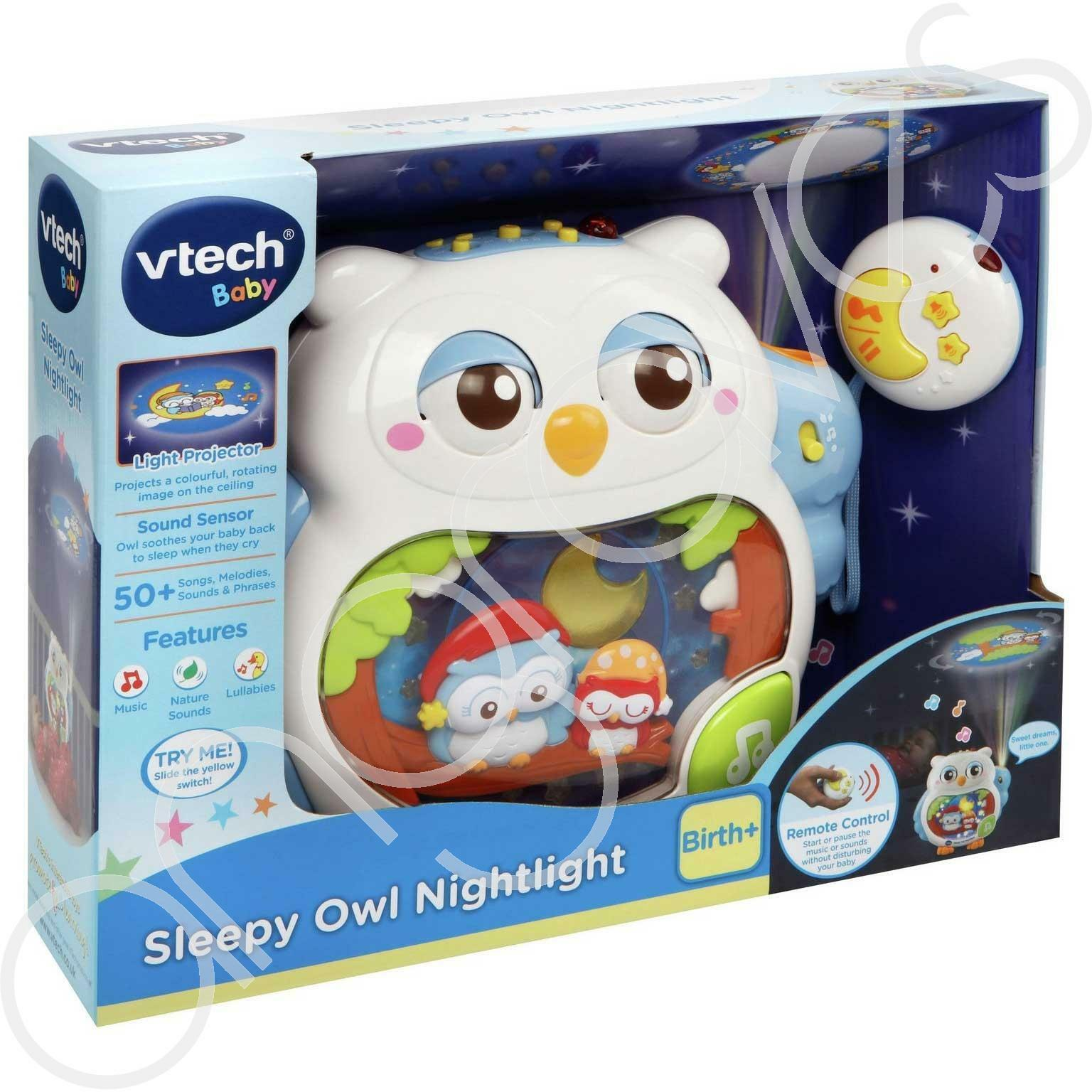 VTech Sleepy Owl Nightlight Cot Soother Baby Lullaby Night Light