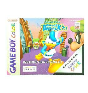 Notice jeu Nintendo Game Boy Color Donald Duck Instruction Booklet Manuel EUR