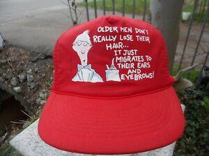 Funny-Joke-Bald-Balding-Hair-Baseball-Cap-Hat-Red-Snapback-Trucker-Mesh-Humor