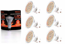6X GU10 LED Lampe von Seitronic mit 3,5 Watt, 300LM und 60 LEDs Warm weiß 2900K