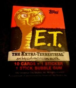 1x 1982 Sealed packs Topps ET the Extra Terrestrial Movie card packs –