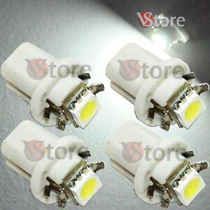 4-LED-T5-B8-5D-Per-Cruscotto-Quadro-Strumenti-SMD-BIANCO-Lampade-Lampadine-Luci