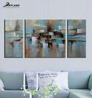 "Framed Modern Abstract Oil Painting on Canvas Original Wall Art ""Lost"" —ARTLAND"