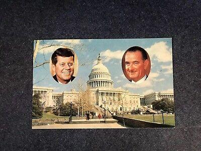 PRESIDENT JOHN F KENNEDY /& LYNDON JOHNSON ON SOUTH LAWN AA-335 8X10 PHOTO
