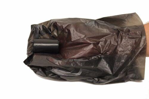 1012 Black Poop Bag Dog Waste Pick Up Clean Bags Coreless.Made in USA /&Dispenser