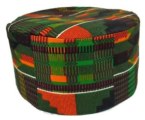 e55ccfbb024 Image is loading African-Mens-Kente-Hat-Dashiki-Traditional-Kufi-Skull-