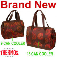 Thermos Brown Henna 9 And 18 Can Insulated Duffle Bags,cooler Bag,new