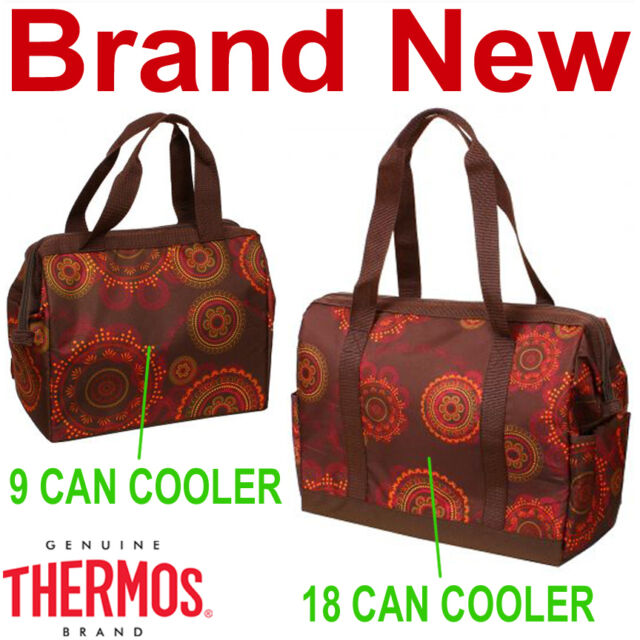 Thermos Brown Henna 9 And 18 Can Insulated Duffle Bags Cooler Bag New