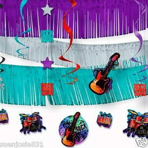 Rock star giant room decorating kit 21pcs party for Room decoration products