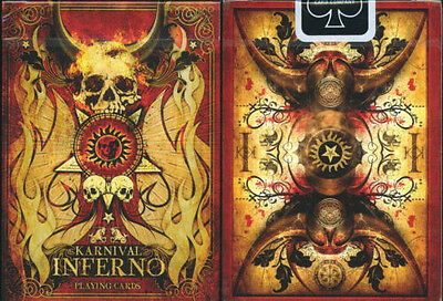 NEW KARNIVAL INFERNO PLAYING CARDS DECK BY BIG BLIND MEDIA