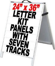 Pvc A Frame 24x36 Sidewalk Sign With2 Letter Track Panels Amp Letter Kit