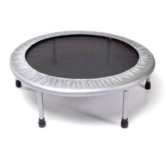 40inch Exercise Mini Trampoline w/Adjustable Handrail Foldab