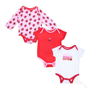 a6ff861f8 Sesame Street Elmo Baby Girl's One Piece Bodysuit 3 Pack Outfit Set ...