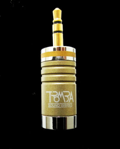 Gold color 2pcs TROMBA gold 3.5mm headphone jack plug connector
