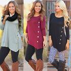 Ladies Long Sleeve Loose Cardigan Knitted Sweater Jumper Knitwear Outwear Coat