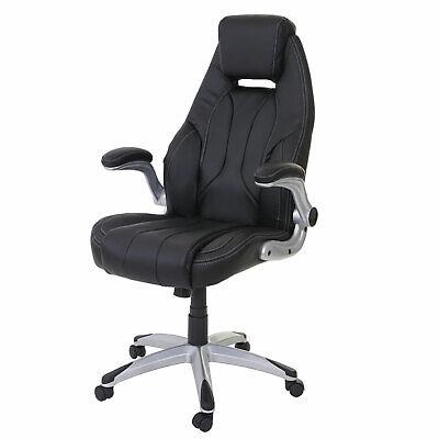 Poltrona ufficio HWC-A65 ecopelle design moderno nero | eBay