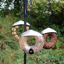 Easipet Hanging Wild Bird Feeder 3pcs Seed Nut Fat Ball Garden Feeding Station D