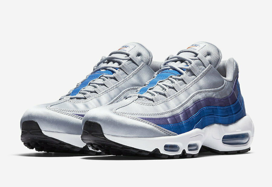 New Nike Air Max 95 Essential Grey bluee Nebula AJ2018-001 Mens Size 7