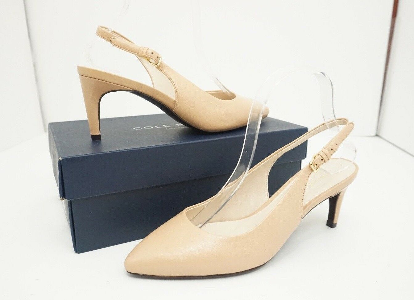 Cole Haan Haan Haan Medora Women's High Heels Pumps Sling Nude Leather Size US 7.5 M b341e4