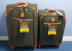 IT-Bermuda-Luxurious-Lightweight-2-Piece-Suitcase-Set-Olive-28-034-24-034-RRP-589