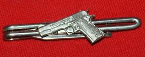 Vintage-COLT-Firearms-Factory-Sterling-Silver-1911-Tie-Bar