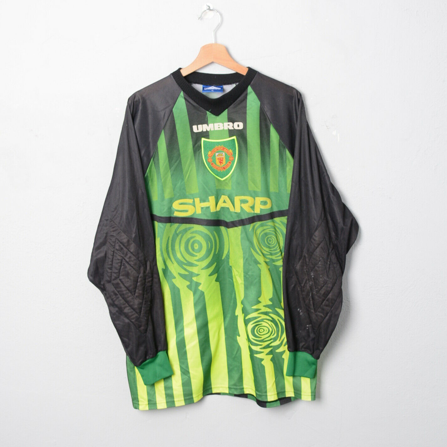199798 MANCHESTER UNITED verde GK SHIRT SCHMICHEL TG XL