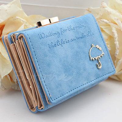 New Hot Fashion Women Leather Wallet Button Clutch Purse Lady Short Handbag Bag