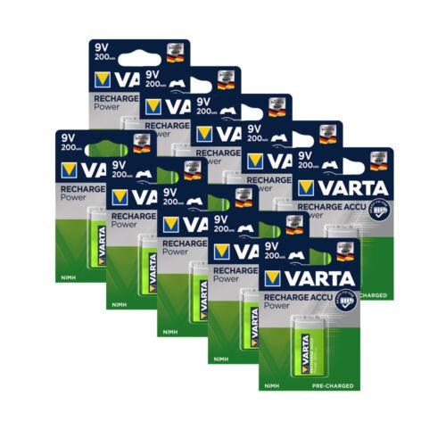 Menge wählbar Varta Recharge Power Akku 9V NIMH 1,2V 200mAh 1er Blister