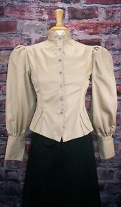 FRONTIER CLASSICS Victorian Khaki Fitted Old West Blouse Steampunk Dickens