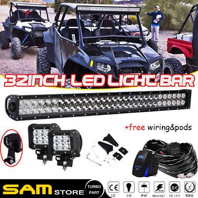 """Cube Pods For UTV Truck Tacoma ATV Jeep Polaris RZR GMC DOT 28/"""" Led Light Bar"""