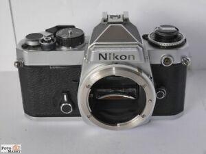 Nikon-FE-body-chrom-SLR-Kamera-mit-Zeitautomat-oder-manuell-35mm-Film