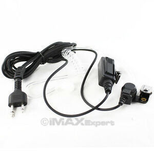 FBI-Headset-Earpiece-Mic-2-Pins-Connector-for-ICOM-YAUSE-Vertex-Standard-Radio