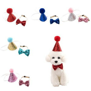 Image Is Loading Fashion Dog Pet Cat Birthday Hats Headwear Costume