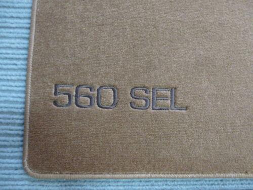 NEU RUTSCHFEST $$$ Lengenfelder Velours Fußmatten für Mercedes Benz W126 SEL