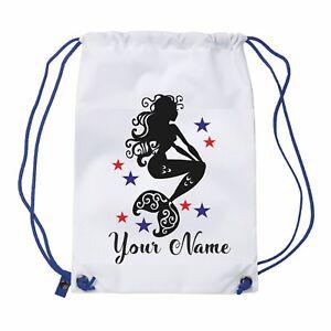 Personalised-mermaid-Gym-Bag-Pe-Sports-Swimming-Bag-School-Dance-Girls-Ladies
