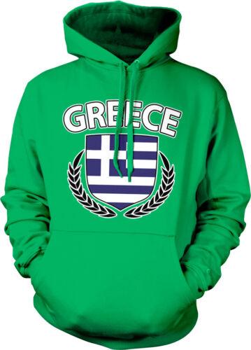 Greek Pride Greece Flag Hoodie Pullover Greece Olive Branch Crest