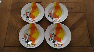 Lot-4-Assiettes-Creuse-Vintage-Disney-Donald-En-Tres-Bon-Etat