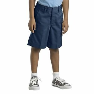 Dickies-Toddler-Navy-Shorts-Pull-On-Flat-Front-School-Uniforms-Sizes-2T-3T-4T