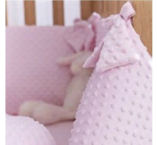Pink swinging crib bedding set with L shaped drape rod breathable crib mattress