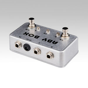 new hand made aby switch box for effects pedal true bypass amp guitar ab ebay. Black Bedroom Furniture Sets. Home Design Ideas