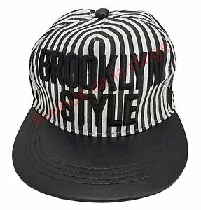 Casquette-snapback-034-Brooklyn-Style-034-visiere-plate-homme-femme-neuf