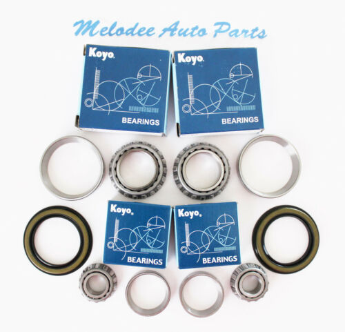 2 KOYO Japanese Front Wheel Bearing With Seal set For 84-95 TOYOTA 4RUNNER 4WD