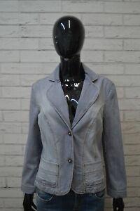 Giacca-MARELLA-SPORT-Taglia-L-Cappotto-Jacket-Jeans-Donna-Giubbotto-Elastica-Blu