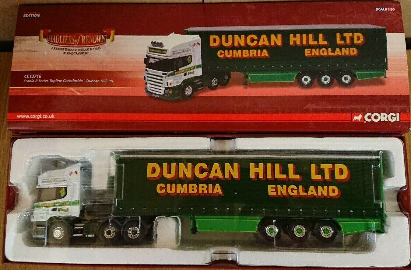 Corgi CC13716 Scania R Topline Curtainside Duncan Hill Ltd Edit No. 0115 of 1310