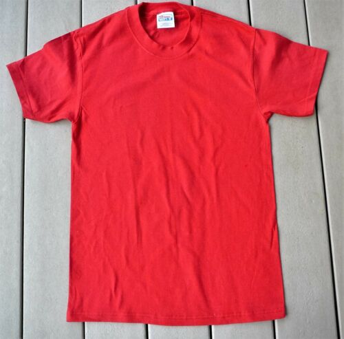 Hanes Beefy T red short-sleeve cotton t-shirt Men size small NEW FREE shipping